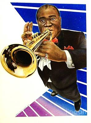 Trumpet Painting - Louis Armstrong by Marsha Heiken