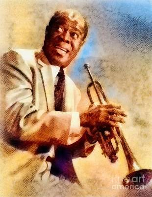 Jazz Royalty-Free and Rights-Managed Images - Louis Armstrong, Music Legend by John Springfield