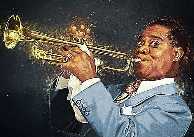 Digital Art - Louis Armstrong by Zapista