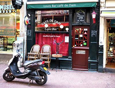 Photograph - Louis Bar Cafe De Dam by John Rizzuto