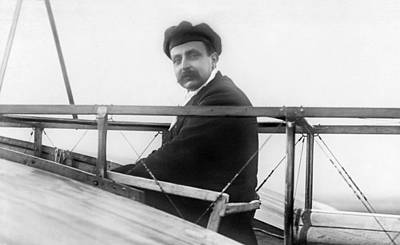 Photograph - Louis Bleriot In The Bleriot Xi  by War Is Hell Store