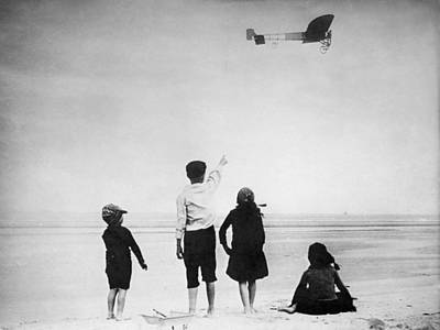 Photograph - Louis Bleriot - Transatlantic Flight - 1907 by War Is Hell Store