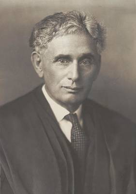 Louis Brandeis 1856-1941, Was Appointed Print by Everett
