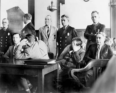 1940s Candid Photograph - Louis Buchalter At Murder Trial, Louis by Everett