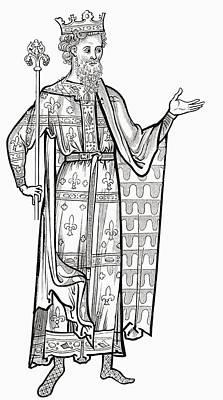 Fleur De Lis Drawing - Louis Ix, 1214 To 1270. King Of France by Vintage Design Pics