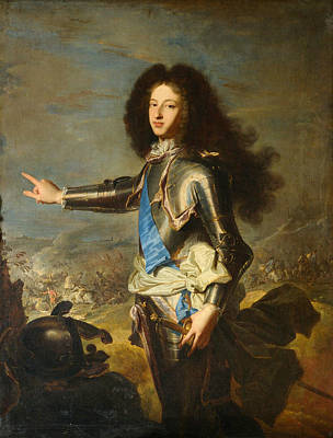 Painting - Louis Of France, Duke Of Burgundy  by Hyacinthe Rigaud