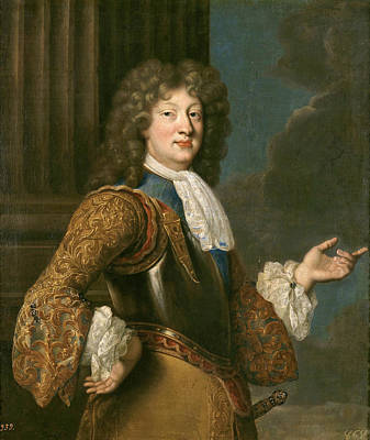 De Troy Painting - Louis Of France The Grand Dauphin by After Francois de Troy