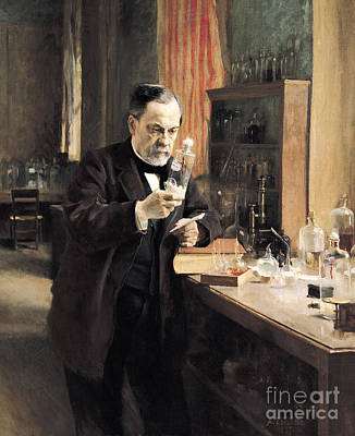 Bottle Painting - Louis Pasteur by Albert Gustaf Aristides Edelfelt