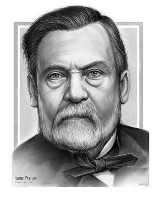 Drawing - Louis Pasteur  by Greg Joens