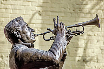 Photograph - Louis Prima Statue by David Lawson