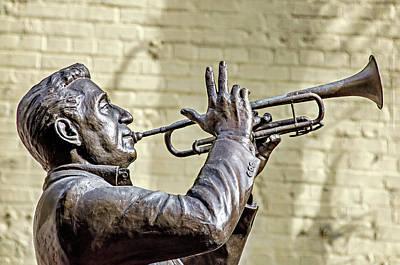 Photograph - Louis Prima Statue by David Lawson