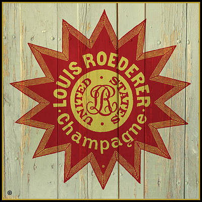 Painting - Louis Roederer Sign by Gary Grayson