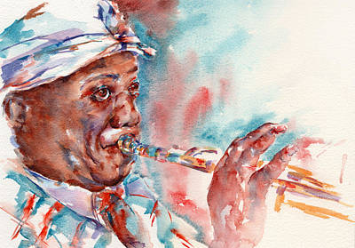 Louis Armstrong Painting - Louis by Stephie Butler