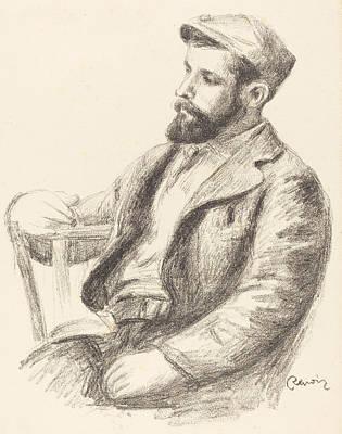Pencil Shading Drawing - Louis Valtat by Auguste Renoir