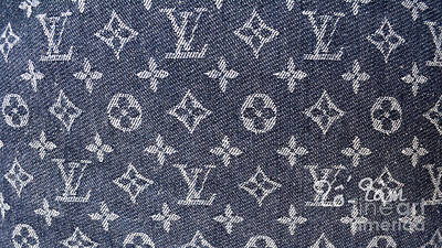 Louis Vuitton Wall Art - Photograph - Louis Vuitton Blue Jean Fabric Monogram by To-Tam Gerwe