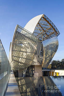 Photograph - Louis Vuitton Foundation, By Architect Frank Gehry, Art Museum by Perry Van Munster