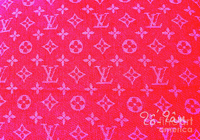 Louis Vuitton Wall Art - Digital Art - Louis Vuitton Hot Pink Monogram by To-Tam Gerwe