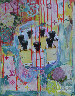Spatter Mixed Media - Louis Vuitton Les Parfums by To-Tam Gerwe