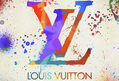 Mixed Media - Louis Vuitton Logo by Dan Sproul