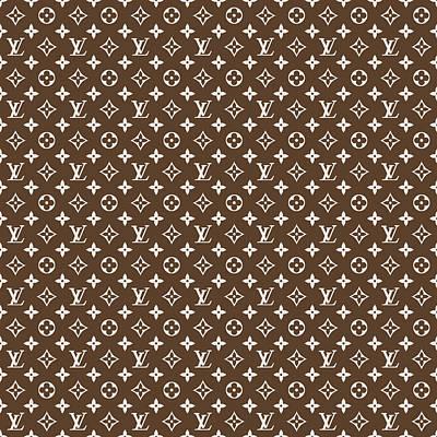 Louis Vuitton Pattern Lv 04 Brown Art Print