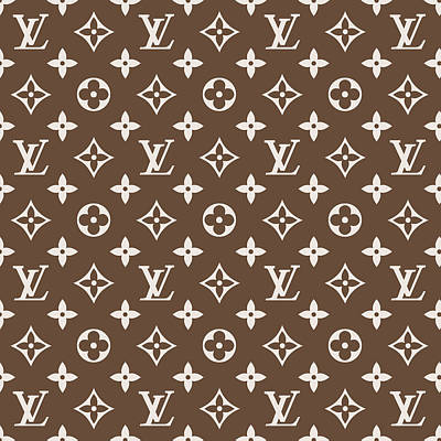 Louis Vuitton Wall Art - Digital Art - Louis Vuitton Pattern - Lv Pattern 05 - Fashion And Lifestyle by TUSCAN Afternoon