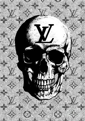 Louis Vuitton Wall Art - Mixed Media - Louis Vuitton Poster by Del Art
