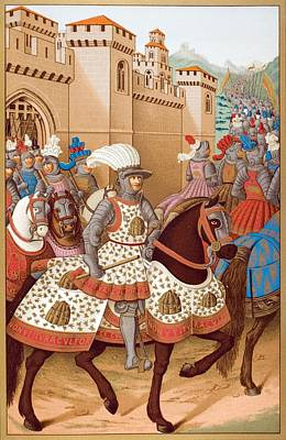 Genoa Drawing - Louis Xii And His Army Leaving by Vintage Design Pics
