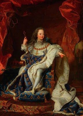Louis Xv Painting - Louis Xv At The Age Of Five In The Costume Of The Sacre by Hyancinthe Rigaud