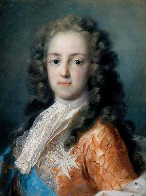 Louis Xv Pastel - Louis Xv Of France As Dauphin by Rosalba Carriera