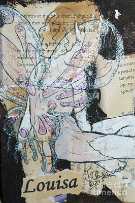 Mixed Media - Louisa Fairy by Joanne Claxton