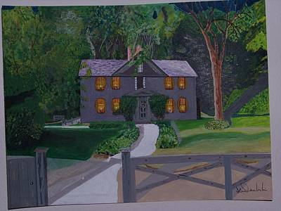 Concord Massachusetts Painting - Louisa May Alcott's Home by William Demboski