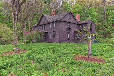 Louisa May Alcott Photograph - Louisa May Alcotts Orchard House Concord Massachusetts by Brian MacLean