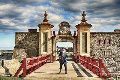 Louisbourg Fortress, Nova Scotia Art Print