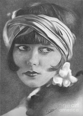 Drawing - Louise Brooks by Karen Townsend