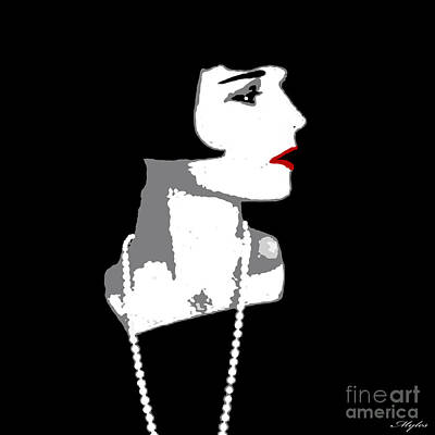 Painting - Louise Brooks In Black And White by Saundra Myles