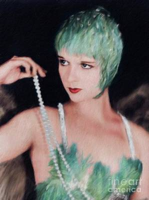 Musicians Royalty Free Images - Louise Brooks, Vintage Actress Royalty-Free Image by Mary Bassett