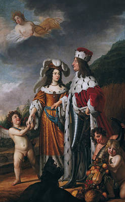 Painting - Louise Henriette Leads Friedrich Wilhelm, Elector Of Brandenburg, To Her Parents by Gerard van Honthorst