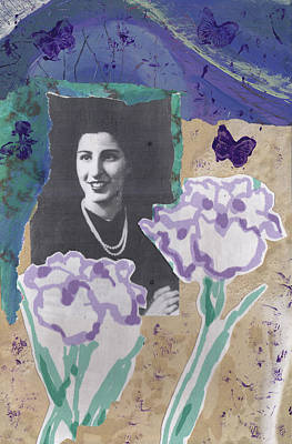 Mixed Media - Louise In Boston 1944 In Memory Of My Mother by Anne Katzeff