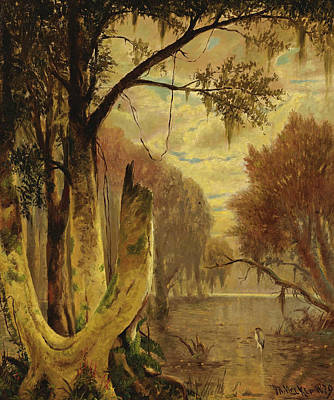 Painting - Louisiana Bayou by Joseph Rusling Meeker