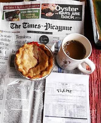 Louisiana Breakfast Aka Treme Script Print by John Keasler