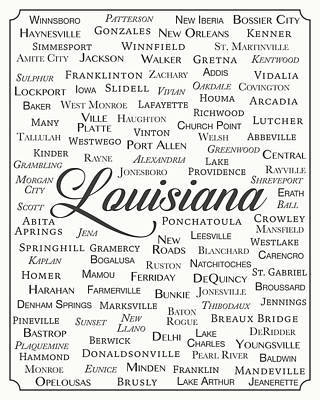 Louisiana Art Print by Finlay McNevin