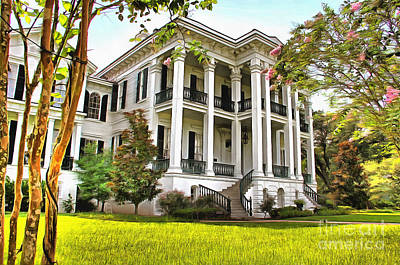 Plantations Mixed Media - Louisiana Plantation by Mylinda Revell