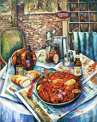 Food And Beverage Wall Art - Painting - Louisiana Saturday Night by Dianne Parks