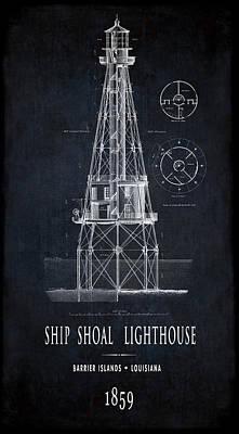 Louisiana Ship Shoal Lighthouse  1859 Art Print