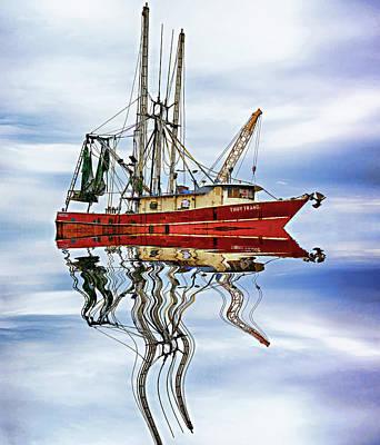 Trawler Digital Art - Louisiana Shrimp Boat 4 - Paint by Steve Harrington