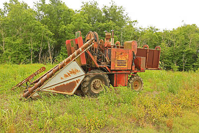 Photograph - Louisiana Single Row Sugar Cane Harvester by Ronald Olivier
