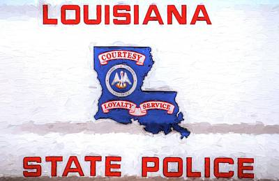 Louisiana State Police Art Print by JC Findley