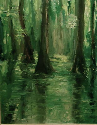 Painting - Louisiana Swamp by Bruce Ben Pope