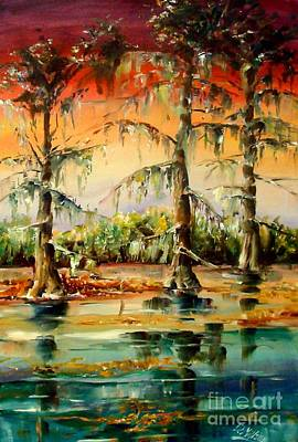 Bayou Abstract Painting - Louisiana Swamp by Diane Millsap