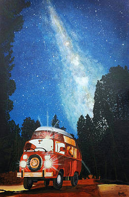 Constellations Painting - Louis's Wanderbug by Sonal Poghat